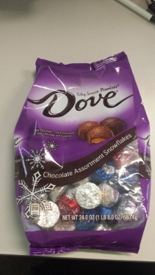 Dove chocolate bag