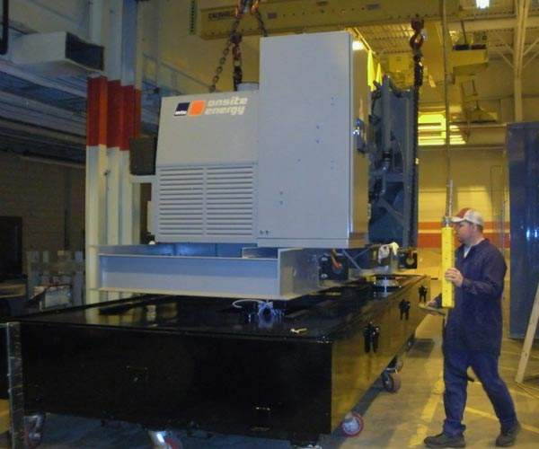 On-site power generation unit at the milk processing plant.