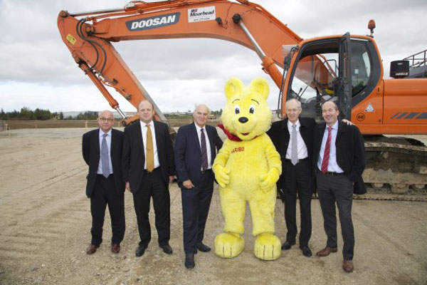 The construction of the new confectionery production plant at Castleford began in October 2013. Credit: Haribo Dunhils,