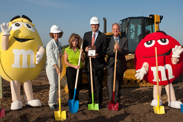 Mars broke ground on the new factory in August 2011.