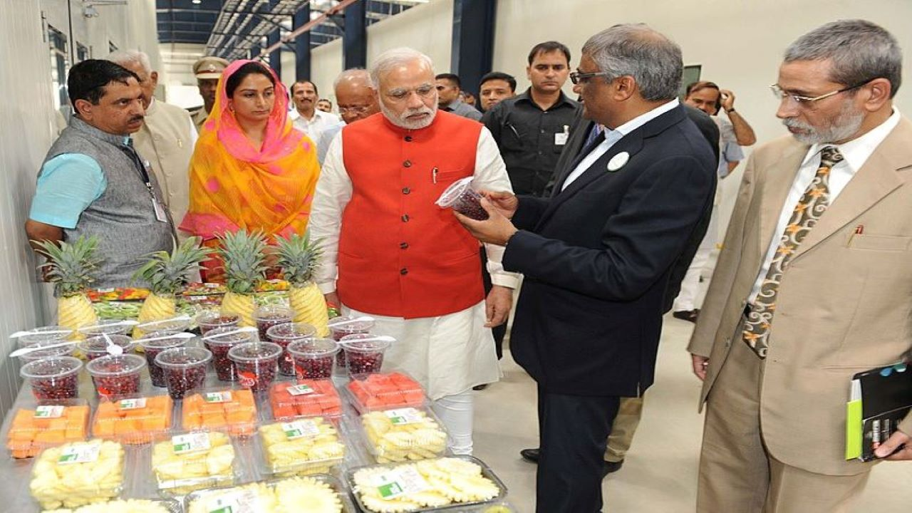 The India Food Park (IFP) in Tumkur, Karnataka began operations in 2014. Credit: Indian Prime Minister's Office.