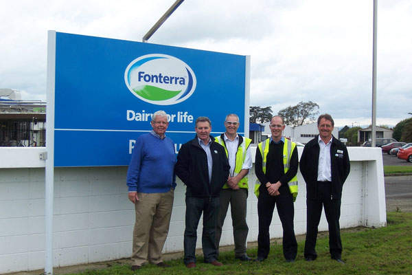 Wairarapa MP John Hayes visited Fonterra's Pahiatua plant in 2010. Credit: nznationalparty.