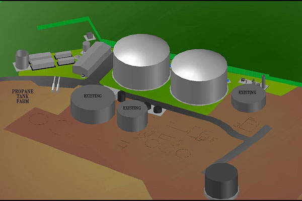 A 3D rendition of the new anaerobic digester installed by Clearfleau at the Lake District creamery. Credit: First Milk Limited.