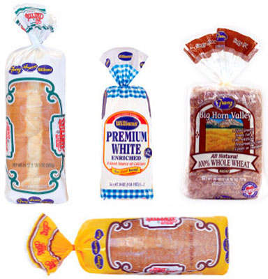 A selection of Franz Family Bakeries products, the bakery has over 1,200 SKUs. Franz Family Bakeries delivers these products throughout Washington and Oregon, Montana and northern California.
