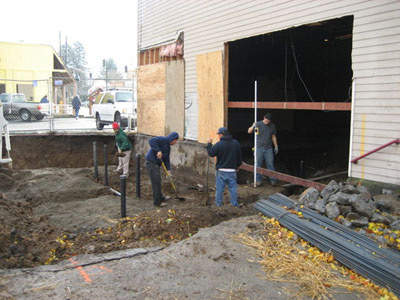 The Laurelwood brewery building had to be modified to accommodate the new brewery.