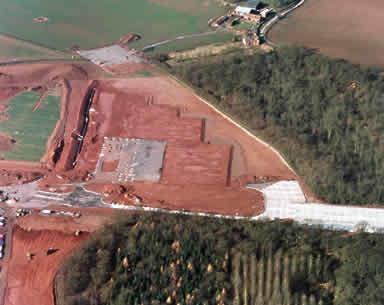 The site at Stonebridge Cross prior to the construction of the plant.
