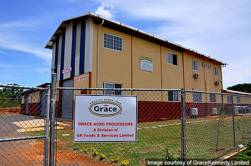 In July 2011, GraceKennedy opened a new post harvest processing and packaging facility in Hounslow, in the St. Elizabeth parish of Jamaica.