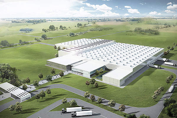 The gross floor area of the plant is equivalent to that of seven soccer fields. Image courtesy of Nestlé Germany AG.