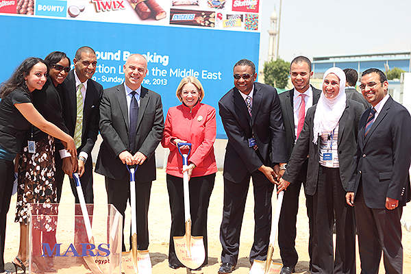 The ground breaking ceremony was attended by the US Ambassador to Egypt, Anne Patterson. Credit: Mars.