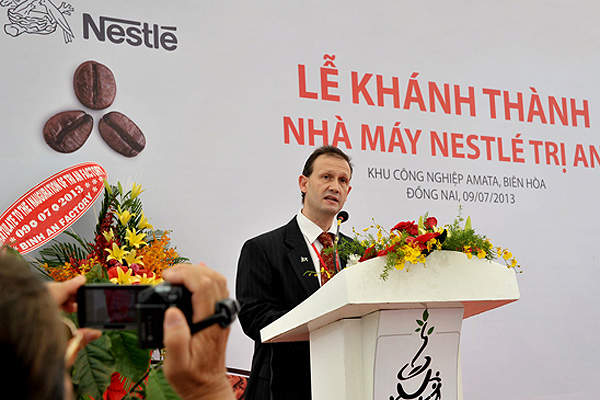 Nestlé inaugurated its new coffee manufacturing facility in Vietnam in July 2013.