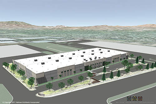 Rendering of the new Now Foods manufacturing and distribution facility in Sparks in Nevada, US.