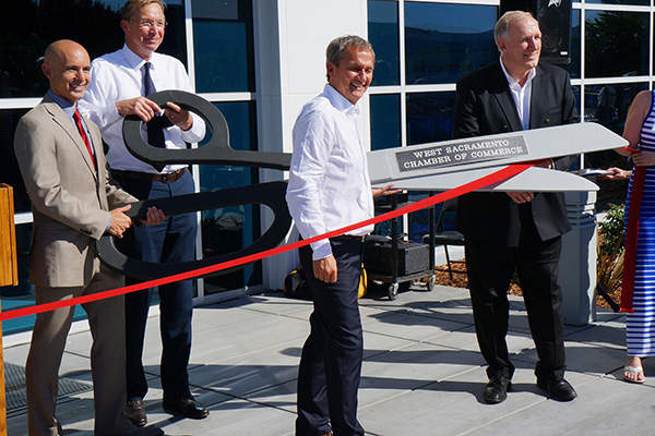 Tomra Sorting Food's new building in Riverside Center, West Sacramento, was inaugurated in June 2014.