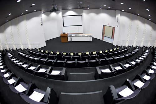 The centre has a 124-seat theatre.