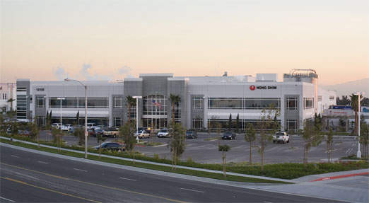The California site contains the Nong Shim corporate headquarters, manufacturing and distribution facility.