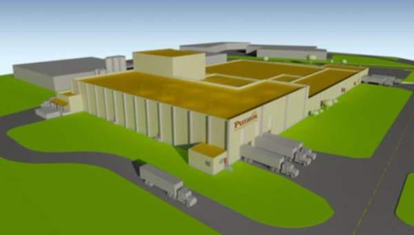 Rendering of the Puratos' Pennsauken bakery ingredients facility. Puratos began the expansion of the Pennsauken facility in November 2011. Image courtesy of New Jersey Government.