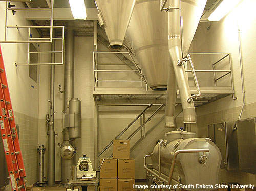 The spray dryer and evaporator at the plant were installed in October 2010.