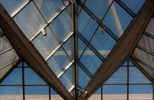 The plant uses skylights to maximise natural light.