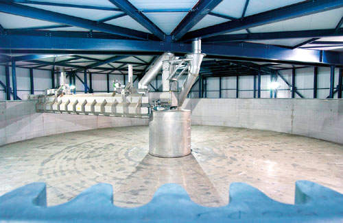 The steeping system used at the Holland Malt plant allows uniform malt qualities.