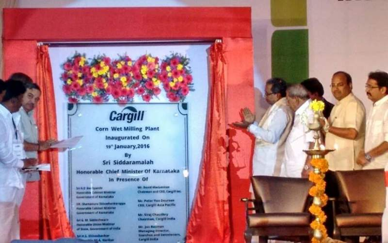 Cargill India opened its wet corn milling plant at Davangere in January 2016. Image courtesy of Namma Sarkara.