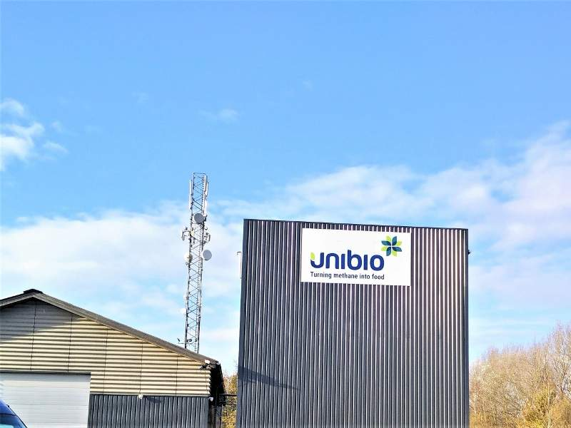 Unibio's first commercial-scale facility for the production of its proprietary product, UniProtein, is located in Kalundborg, Denmark. Image courtesy of Unibio.