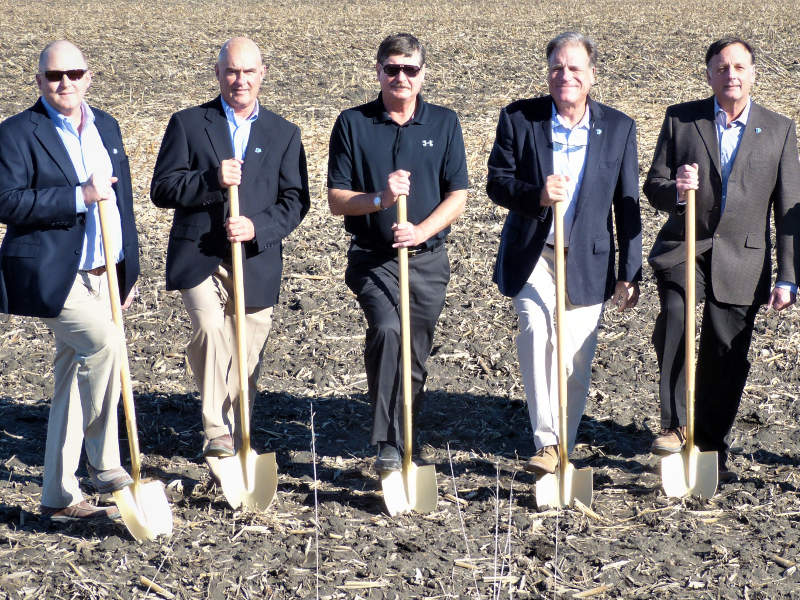 Ground breaking for Prestage Foods of Iowa' new pork processing plant was held in 2017. Credit: Prestige Farms.
