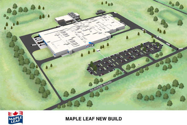 The Maple Leaf Foods facility in Hamilton was opened in 2014.