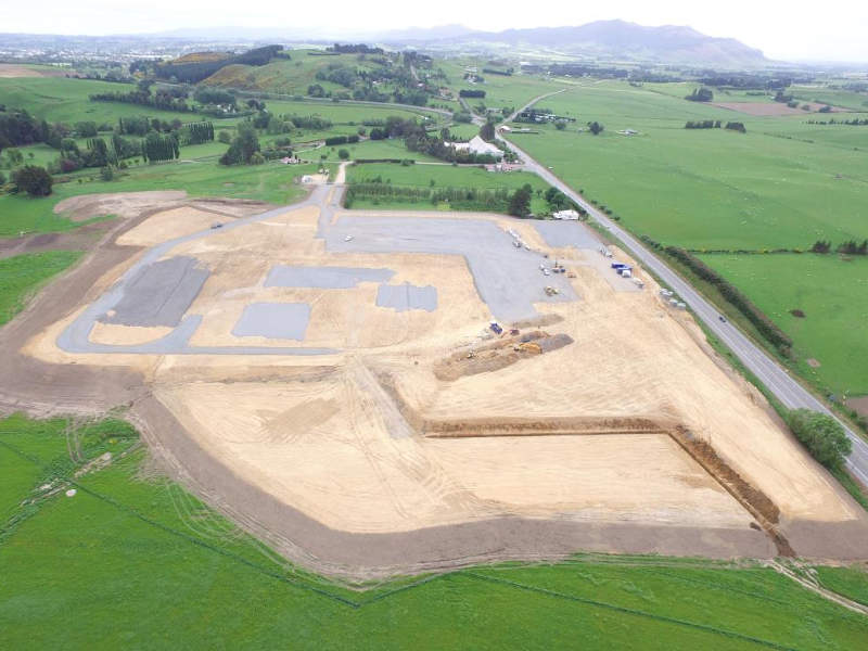 Aerial view of Mataura Valley Milk's new nutritional powders plant site. Image: courtesy of Mataura Valley Milk.