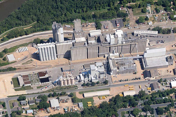 Rahr's Shakopee malt processing plant is the world's biggest single-place malting facility. Image: courtesy of Rahr Corporation.