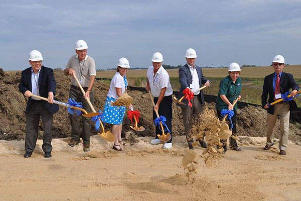 Swiss Valley Farms started construction on the expansion of its cheese plant in Luana in September 2015. Credit: Swiss Valley Farms.