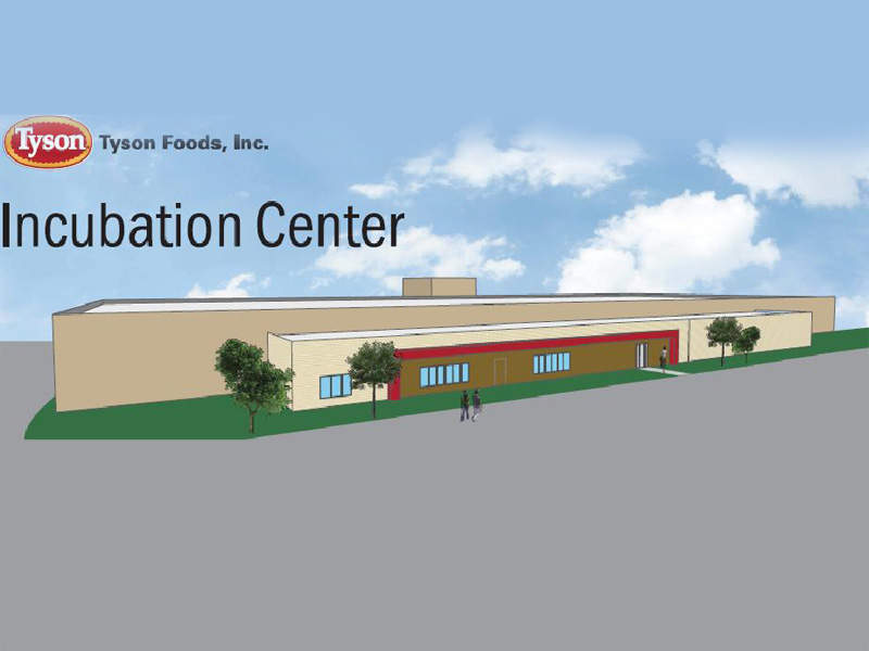 Tyson Foods' new incubation centre is located in Springdale. Image courtesy of Tyson Foods, Inc.