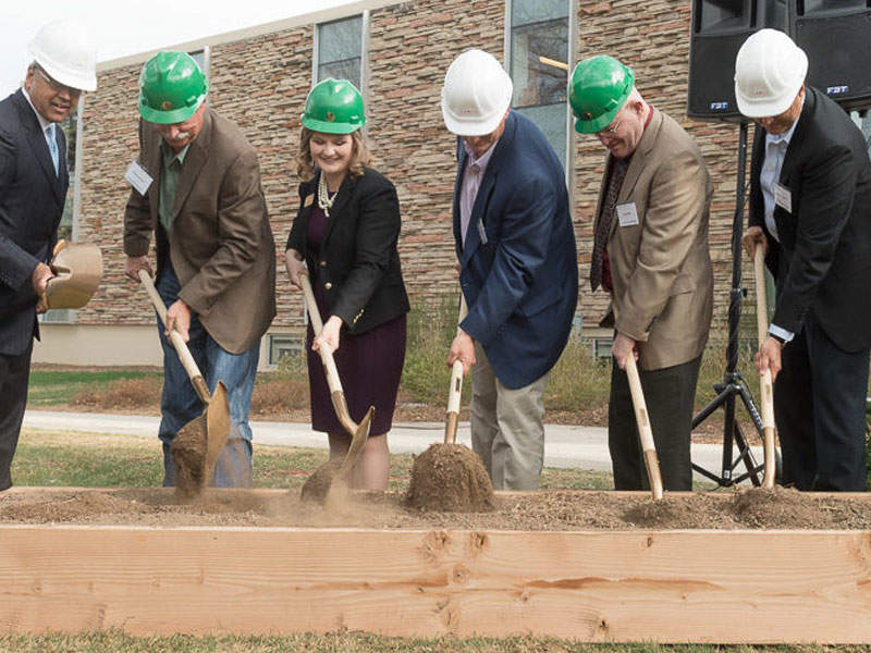 Construction on the JBS Global Food Innovation Center began in March 2017. Image courtesy of Colorado State University.