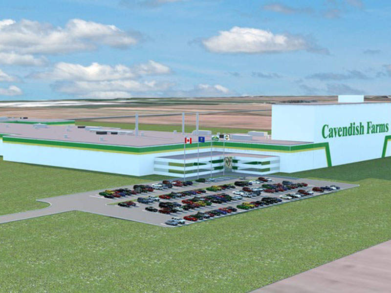 Cavendish Farms' new state-of-the-art potato processing plant is being built in Lethbridge, Alberta, Canada. Image courtesy of J.D. Irving.