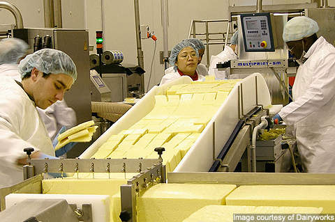 Dairyworks produces block cheese, sliced cheese, grated cheese, speciality cheese and butter.