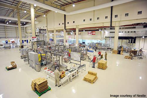 Factory interior.
