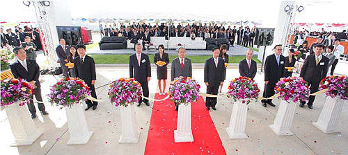 The opening ceremony of the Chonburi plant in December 2010.
