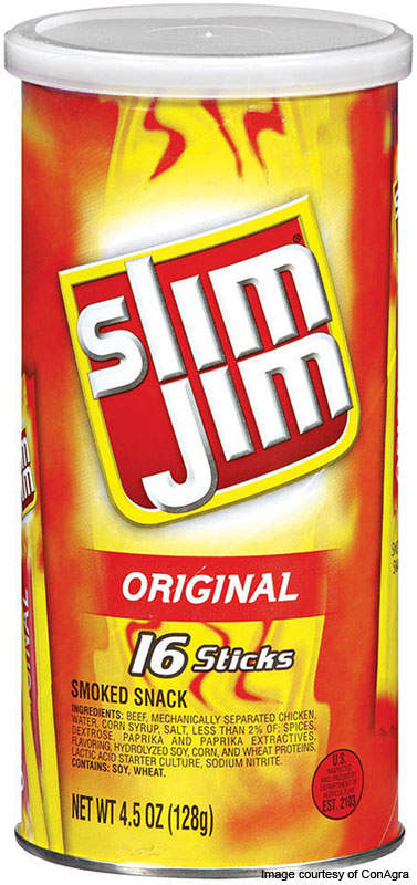 The expanded Troy facility produces Slim Jim snack food. The Slim Jim brand contributes about 6% of ConAgra's total profits.