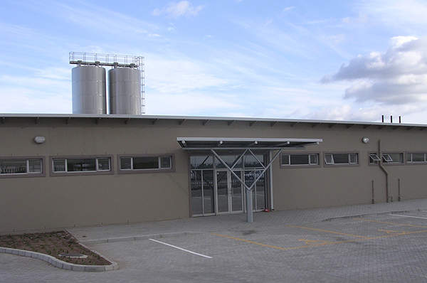 The dairy has a processing capacity of 150,000 litres of milk each day.