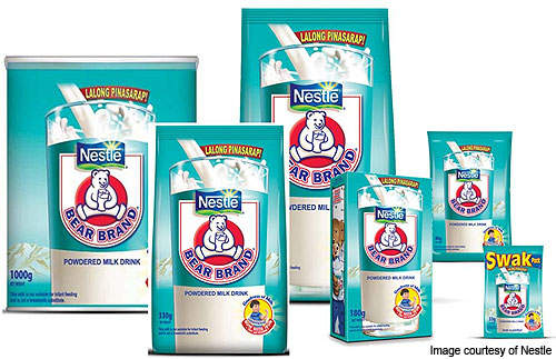 Nestle's Bear Brand powdered milk drink is currently manufactured at its facility in Cagayan de Oro in the Philippines.