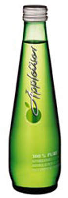 Appletiser slim taper bottle which is filled at the plant.