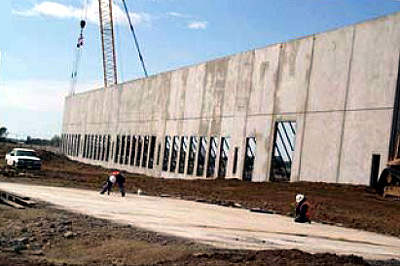 Many of the walls and panels of the building were modular.