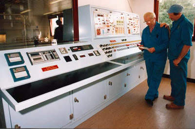 The malting control room.