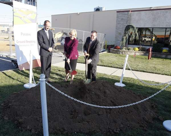 Lt Governor Kim Guadagno participates in the groundbreaking ceremony for Puratos Corporation USA in Pennsauken on 9 November 2011. Image courtesy of New Jersey Government.