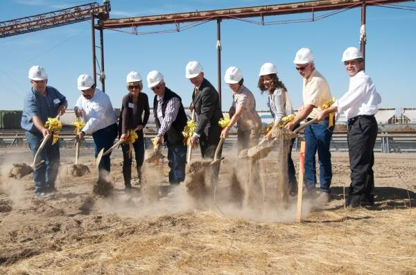 Joel Horn, president and CEO Pacific Coast Canola (far right), participating in the ground breaking ceremony of the plant in September 2011. J Austin & Associates, the PR consultant of Legumex Walker.