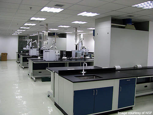 The engineering lab of the NFS Shanghai Testing Laboratory.