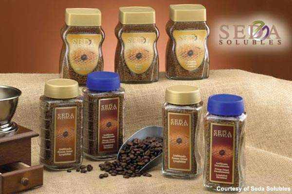 A range of Seda instant coffee products; the company produces about 30,000t per year for the private label market in the UK.