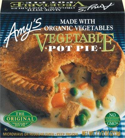 The original vegetable pot pie, Amy's Kitchen's first marketed product.