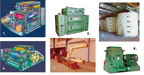Palm oil preparation equipment.