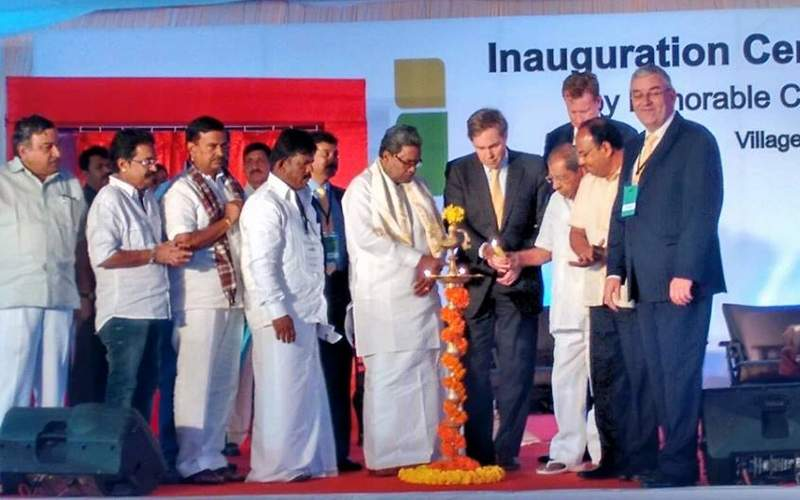 The plant was inaugurated by the Chief Minister of Karnataka state. Image courtesy of Namma Sarkara.