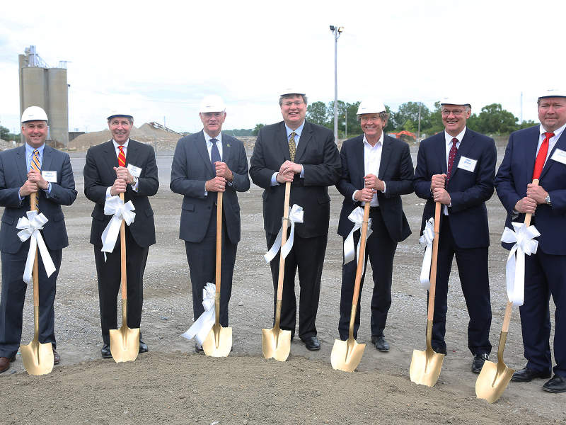 Ground-breaking for the construction of the facility took place in April 2017. Image courtesy of Calysta.