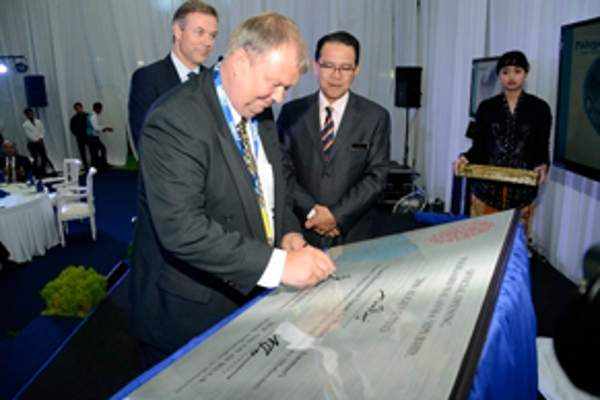 Palsgaard inaugurated the new emulsifier plant in Malaysia in August 2013. Image courtesy of Palsgaard.